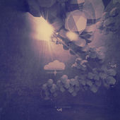Abstrakt 3d låg polygon design för molnet nätverk dator — Stockfoto