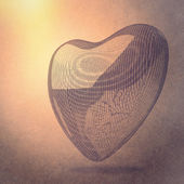 Heart lines mesh 3d — Stock Photo