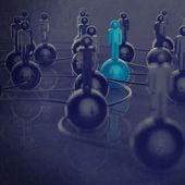 3d нержавеющая человека социальной сети и руководство — Стоковое фото