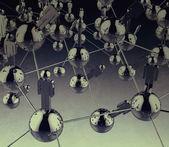 3d нержавеющая человека социальной сети — Стоковое фото