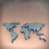 3d map of the earth — Stock Photo