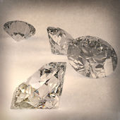 Diamonds 3d model background as vintage style concept — Stock Photo