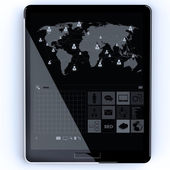Tablet computer input device — Stock Photo