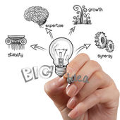 The big idea diagram — Stock Photo