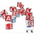 3d shopping cart sale — Foto de Stock