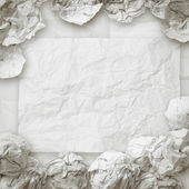 Set of white crumpled paper background texture in composition — Stock Photo