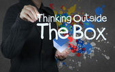 Thinking outside the box as concept — Stock Photo