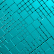 Steel blue cube mesh metal plate background — Stock Photo #31368023
