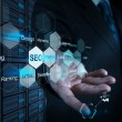 Stock Photo: Businessmhand showing search engine optimization as concept
