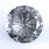 Diamond on white 3d model — Stock Photo