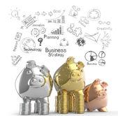 Winner piggy bank as concept — Stock Photo