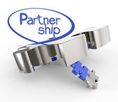 Puzzles partnership as concept — Stock Photo
