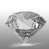 Diamanten geïsoleerd op wit — Stockfoto