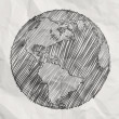 Hand drawn the earth — Stock Photo