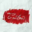 Christmas Card with Santa Claus hand drawn on wrinkled paper — Stock Photo #32169195