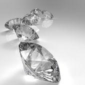 Diamonds isolated on white — ストック写真