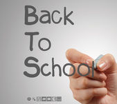 Hand draws Back to School — Stock Photo
