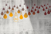 Drawing idea light bulb concept creative design — Stock Photo