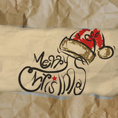 Christmas Card wrinkled recycle paper background — Stock Photo