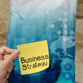 Business strategy background on crumpled paper with tear envelop — Stock Photo