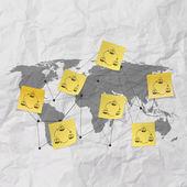 Sticky note social network icon — Stok fotoğraf