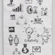 Business concept on crumpled paper  — Stockfoto