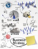El yaratıcı iş stratejisi buruşuk kağıt çizilmiş — Stok fotoğraf