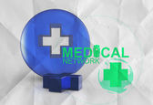 Medical network sign 3d icon — Stock Photo