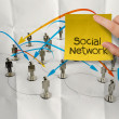 ������, ������: Hand holding sticky note social network