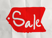 Word sale with crumpled paper background — Foto de Stock