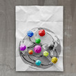 Colors crumpled paper as social network structure — Stockfoto