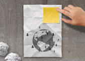 Sticky note social network icon — Stock Photo