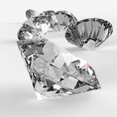 Diamonds 3d in composition — Stock Photo