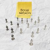Human social network and leadership — Stock Photo