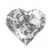 Diamond heart shape — Stock Photo