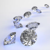 Diamonds 3d in composition as concept — Stock Photo