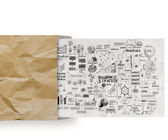 Business strategy on crumpled paper envelope background — Stock Photo