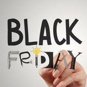 Hand drawn design words BLACK FRIDAY as concept — Stock Photo