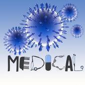 3d virtual virus symbol — Stock Photo