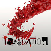 3D paint color splash with design word INNOVATION as concept — Stock Photo