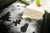 Coconut Cake for holidays — Stock Photo