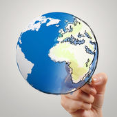 Hand drawing abstract globe as concept — Stock Photo