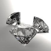 Diamonds 3d in composition as concept  — Stok fotoğraf