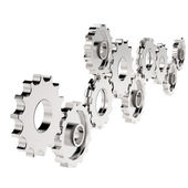 3d cog gear on white background — Stock Photo
