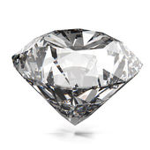 Diamonds isolated on white 3d model  — Stock Photo