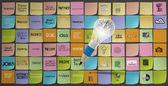 鉛筆 3 d 電球金属脳ビジネス st のアイコンを描画します — ストック写真
