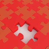 Missing 3d puzzle piece as concept  — Stock Photo