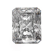 3d Square cut diamond on white — Stock Photo