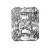 3d Square cut diamond on white — Stok fotoğraf