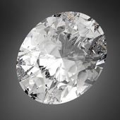3d Sparkling Oval Diamond  — Stock Photo